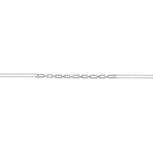 Pave Square Link Double Chain Bracelet