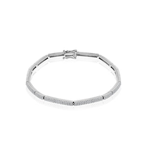 White Gold and Diamond Tennis Bracelet