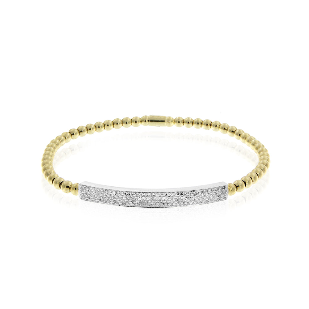 Stretch Diamond and Gold Bracelet