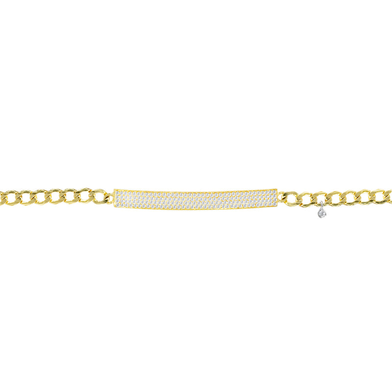 Chunky Chain Diamond Bar Bracelet