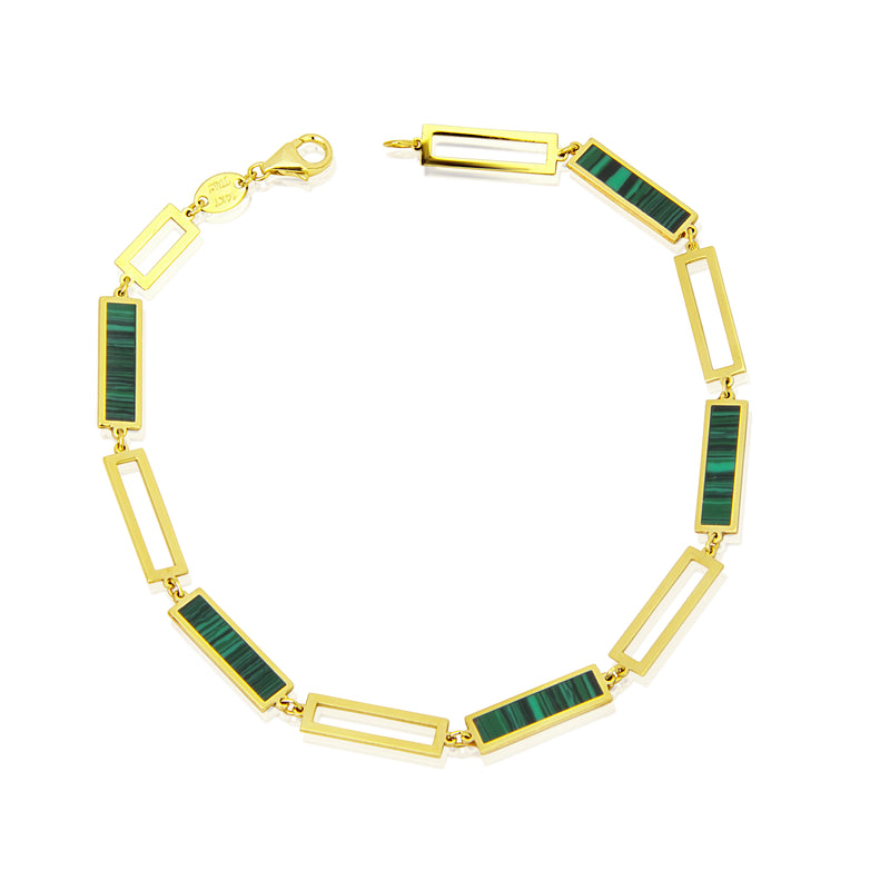 Malachite and Gold Bracelet