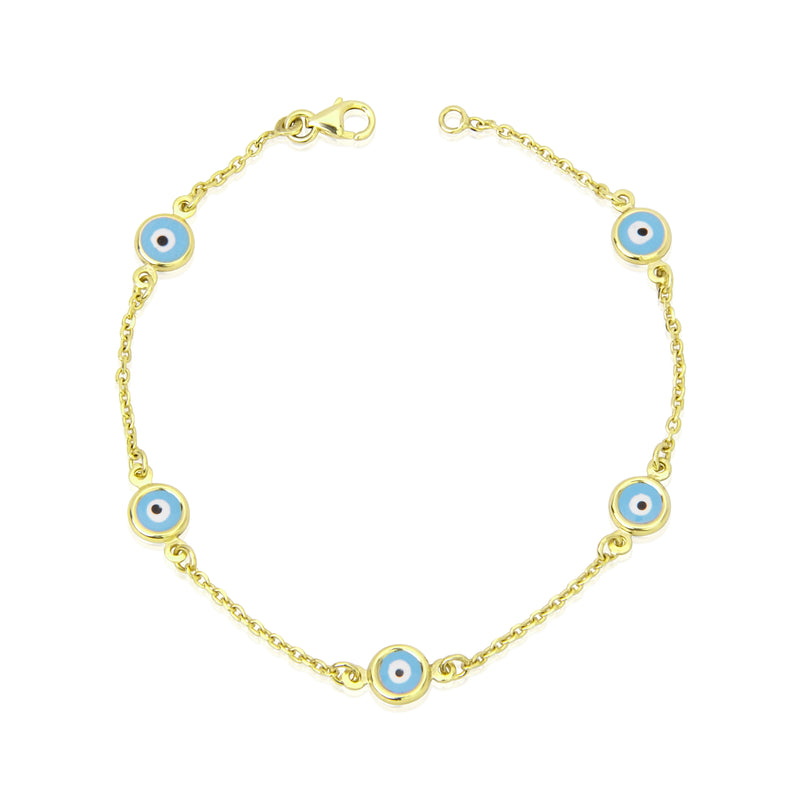 Yellow Gold Evil Eye Bracelet