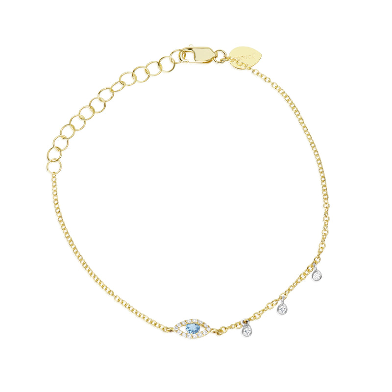 Evil Eye Diamond Bezeled Bracelet