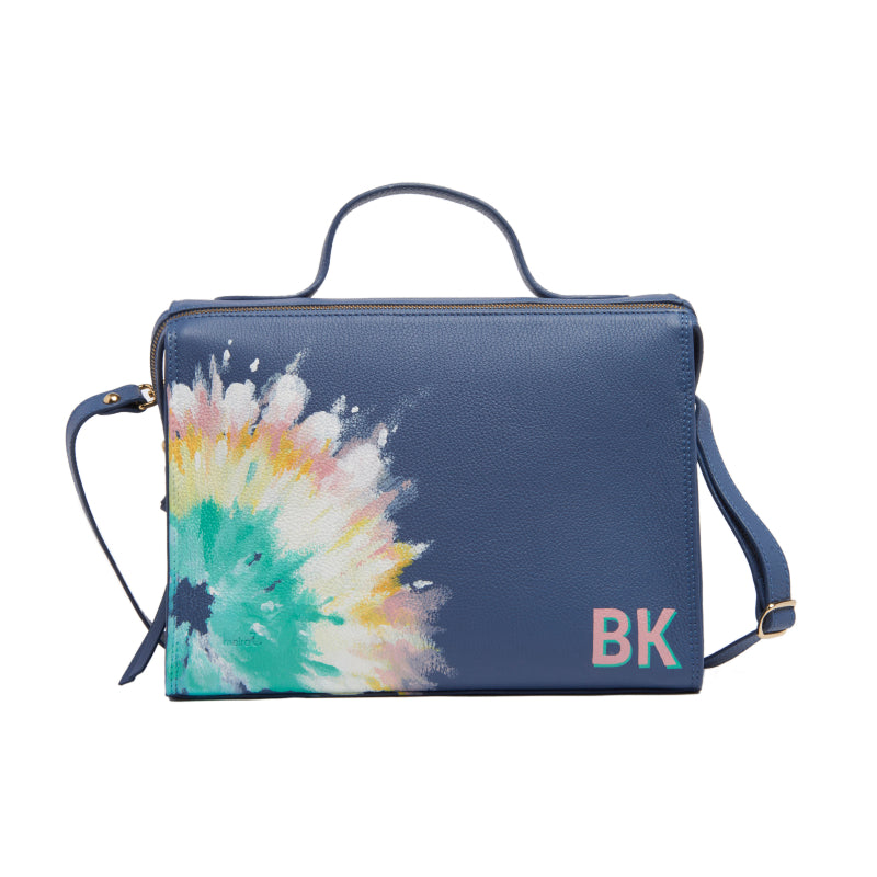 Handpainted Tie Dye Pastel Meira Bag with Initials