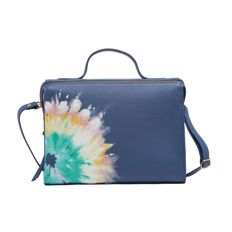 Denim coloured Handpainted Tie Dye Pastel Meira Bag