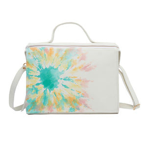 White Handpainted Tie Dye Pastel Meira Bag