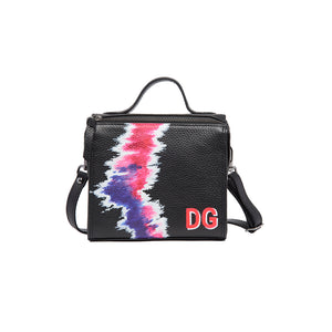 The Mini Meira Flourescent Pink Tie Dye Initial Bag