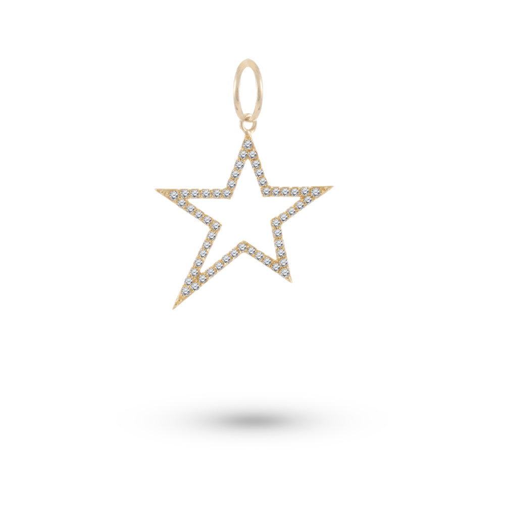 Chunky Yellow Gold Star Charm