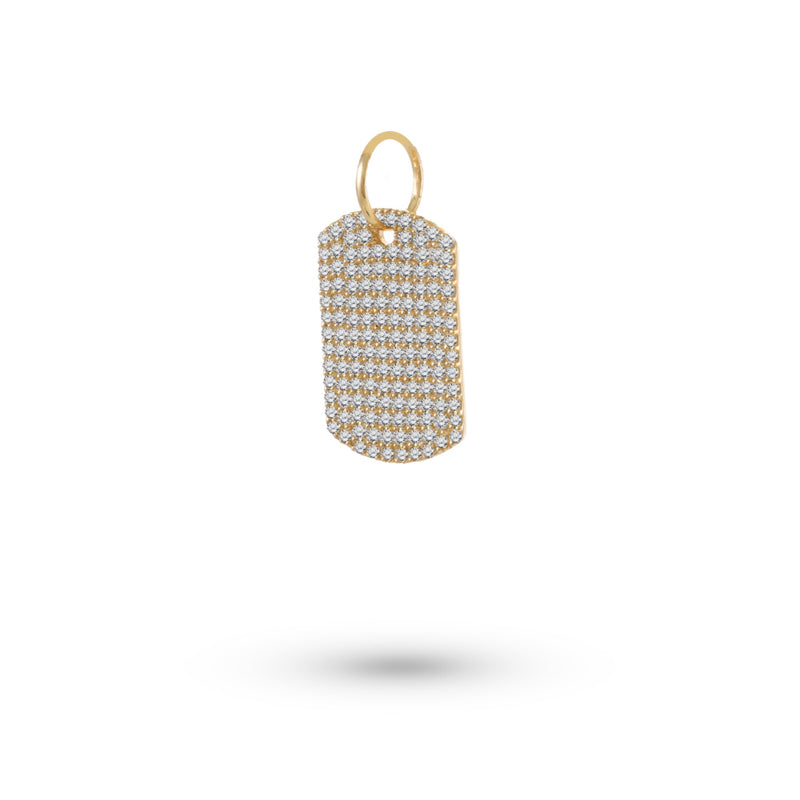 Dog Tag Diamond Charm
