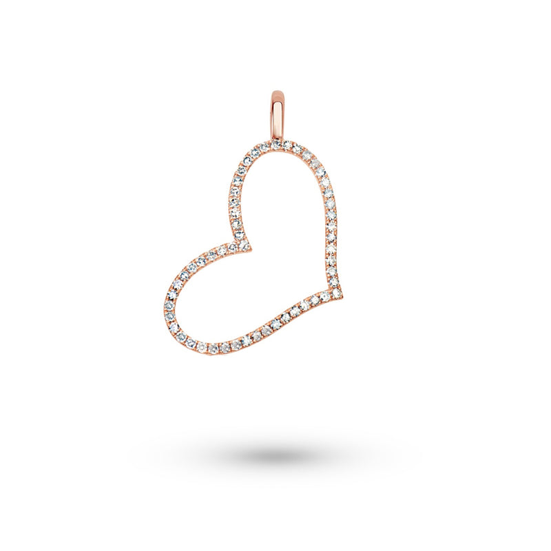 Chunky Rose Gold Heart Charm