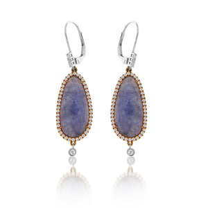 Tanzanite Bezel Drop Earring