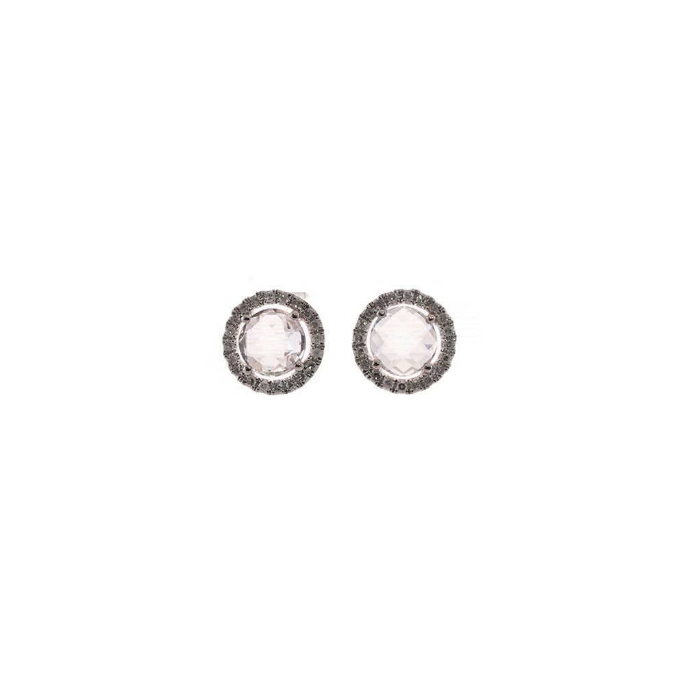 White Topaz Studs LAST ONE