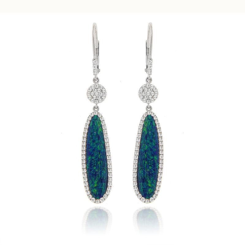 opal and diamond earrings white gold