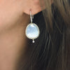 Chalcedony Sunburst Earrings