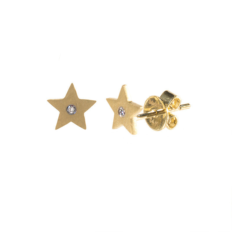 gold star stler north stud earrings a