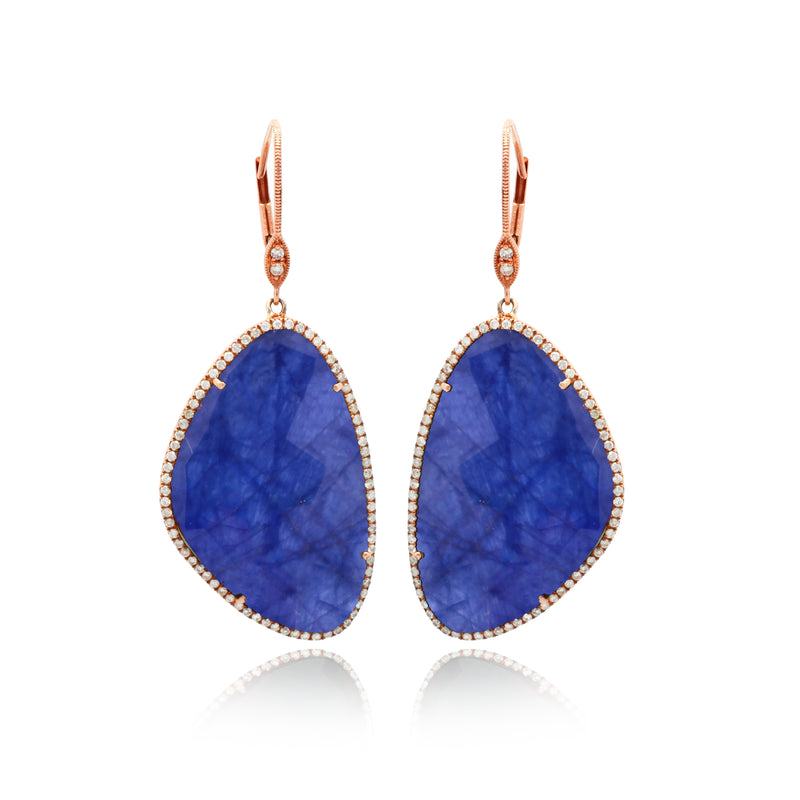 Rose Gold Tanzanite Earrings