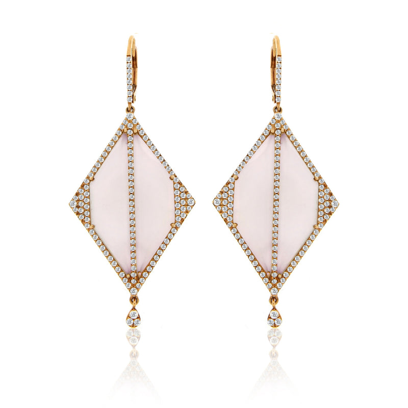 Chalcedony Diamond Earrings
