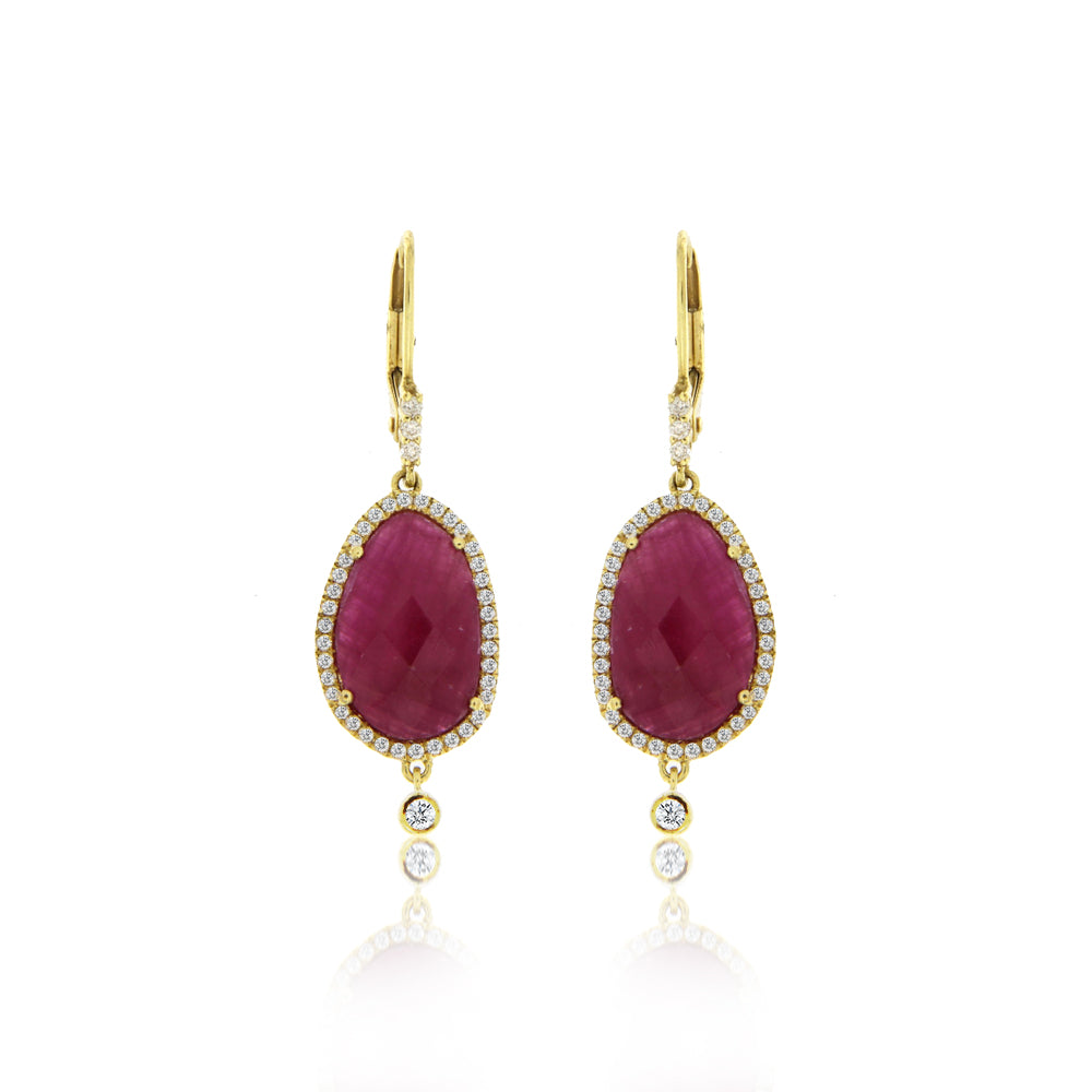 Ruby Halo Earring