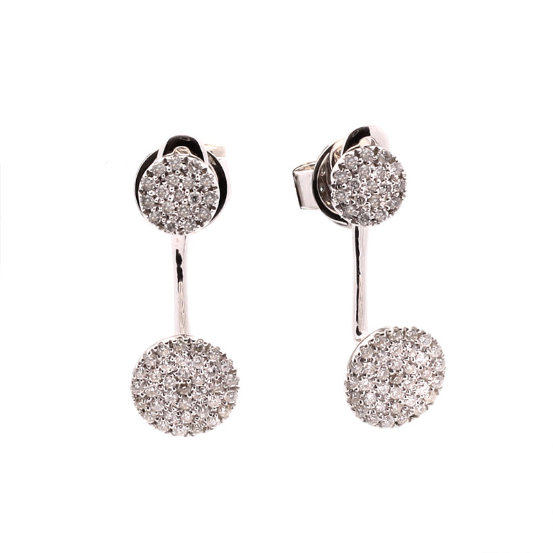 Diamond Ear Jacket Earrings