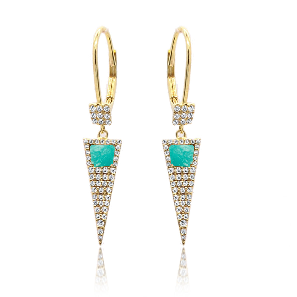 Light Amazonite Dagger Earring