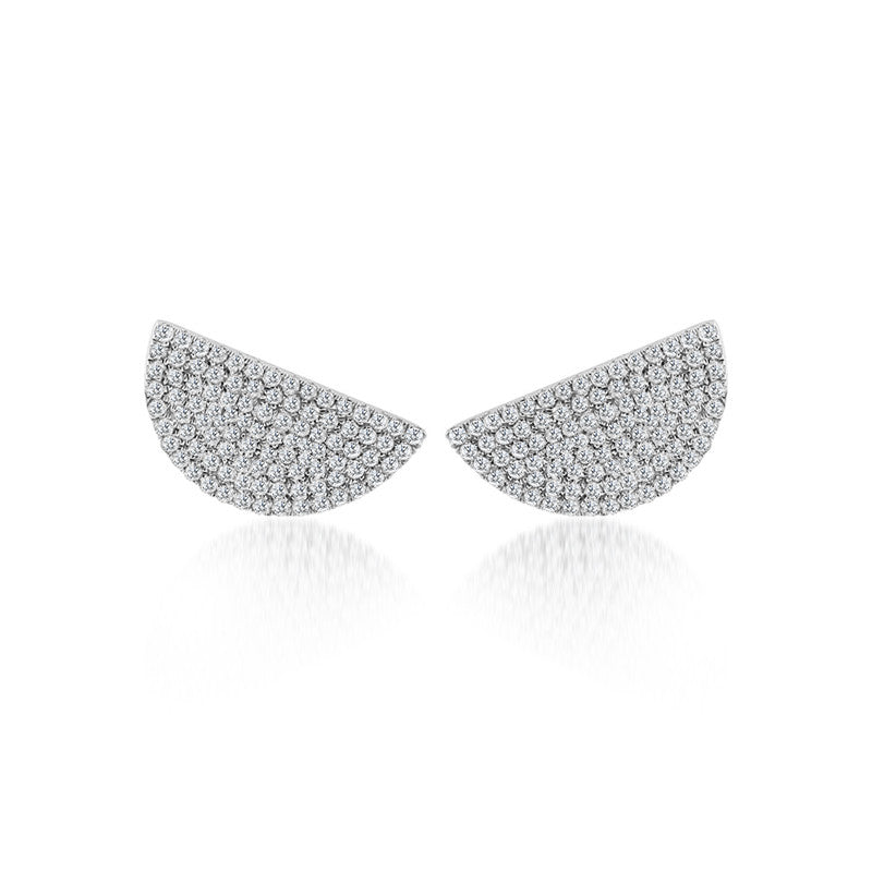 Diamond Semi Circle Ear Climber