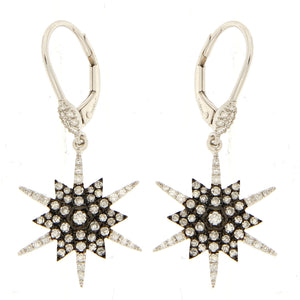 Starburst Diamond Earring in White Gold and DIamond