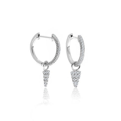 White Gold Milky Aqua Earrings
