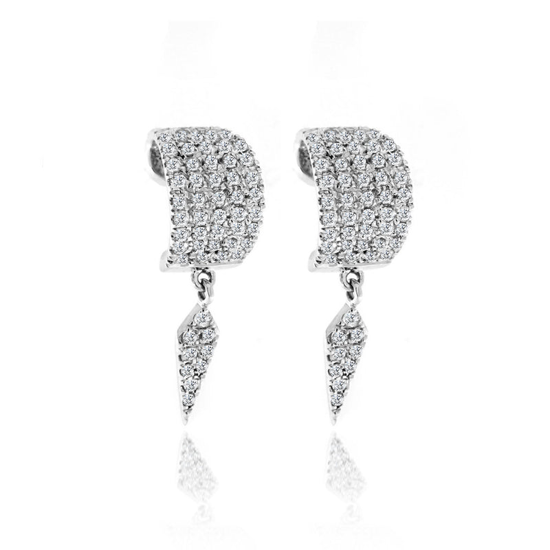 Diamond Huggie Earrings white gold