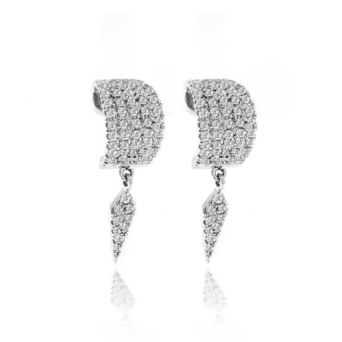 Ruby and Diamonds Ear Climber