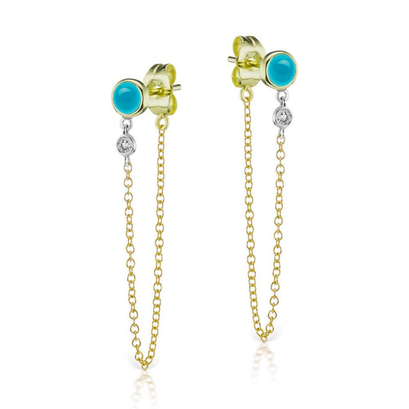 Turquoise Bezel Earrings