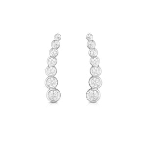 White Gold Bezel Ear Climber
