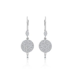 Drop Baguette Diamond Earrings