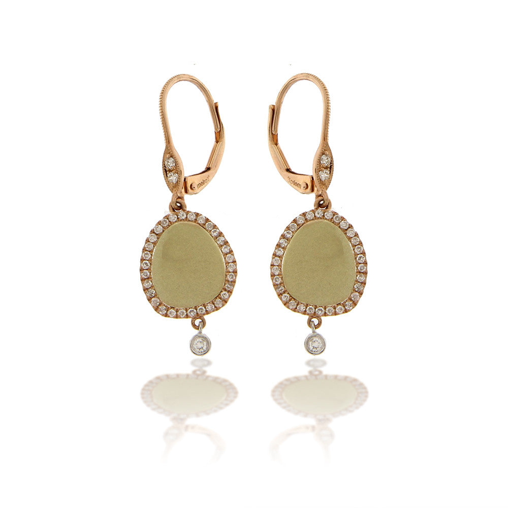 Rose and Yellow Gold Drop Earrings