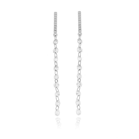 Drilled Diamond Chain Earrings