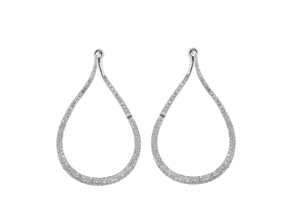 Diamond Earrings Hoops