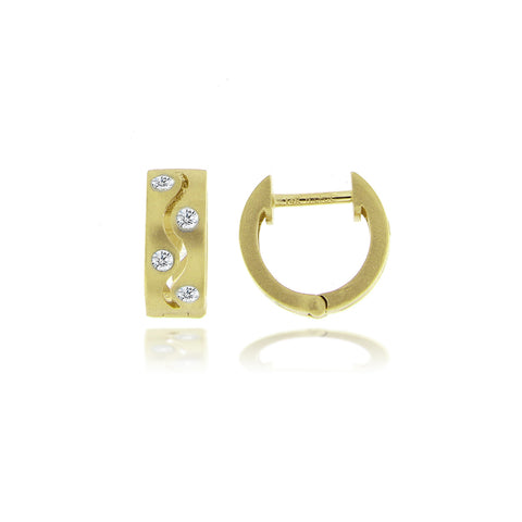 Textured Gold Huggie Earrings