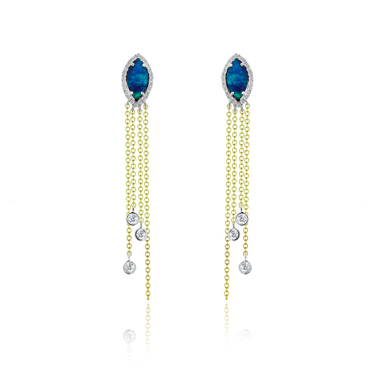 Fringe Opal Earrings