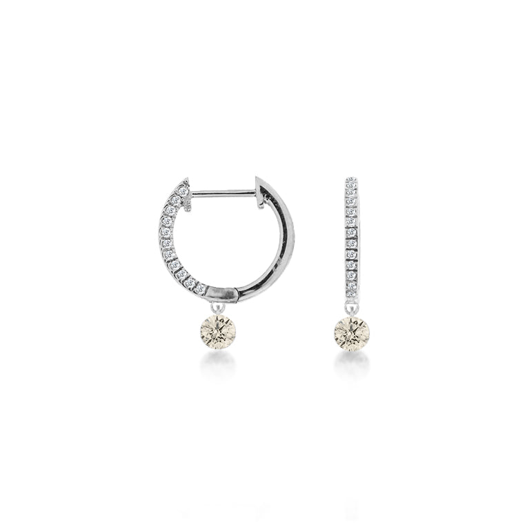 Drilled diamond Earrings