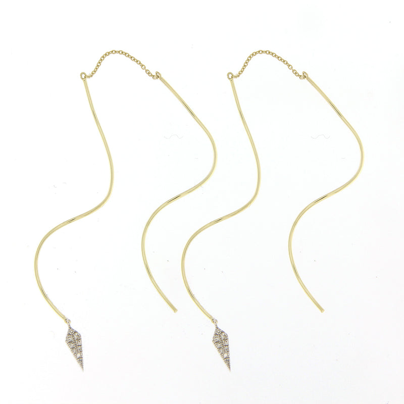 Yellow Gold Threader Earring