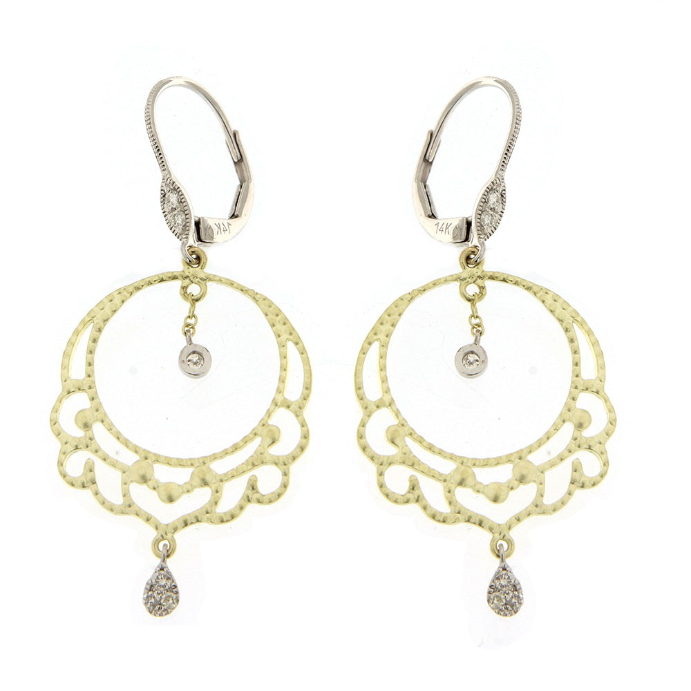 Yellow Gold Floral Earring