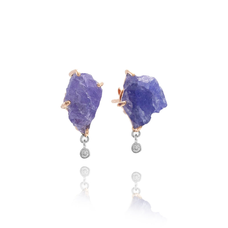Rose Gold Sapphire Earrings