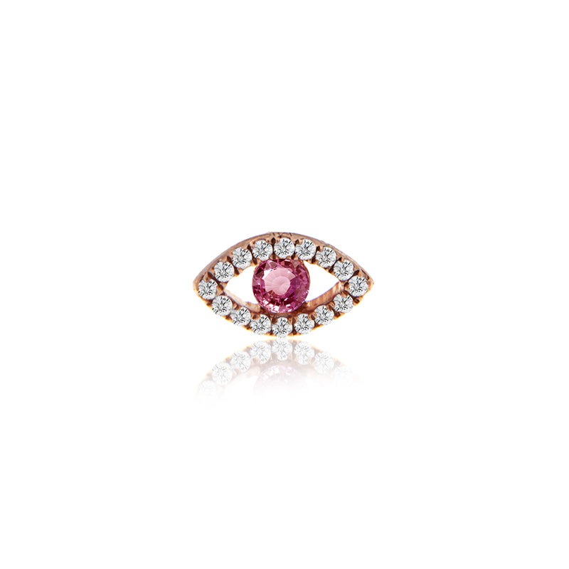pink sapphire stud-Meira T