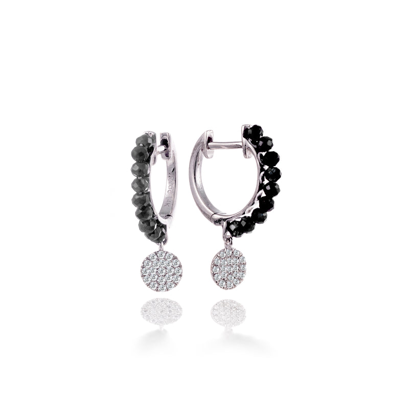 Black Spinelle Diamond Hoops