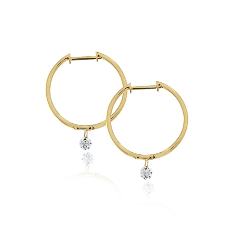 Drilled Diamond Hoops