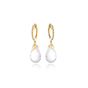 White Topaz Drop Earrings