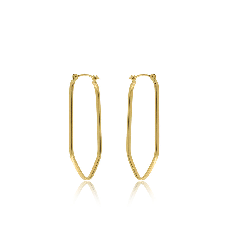 Geometric Gold Hoop
