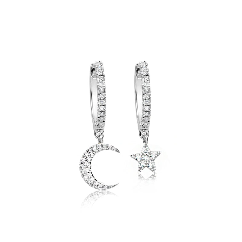 diamond earrings-Meira T