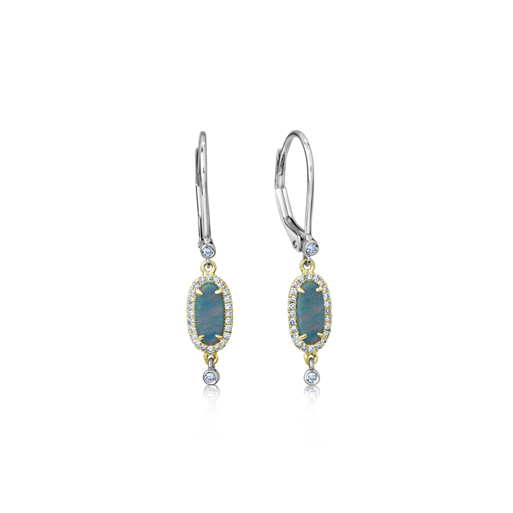 Dainty Opal Drop Earrings