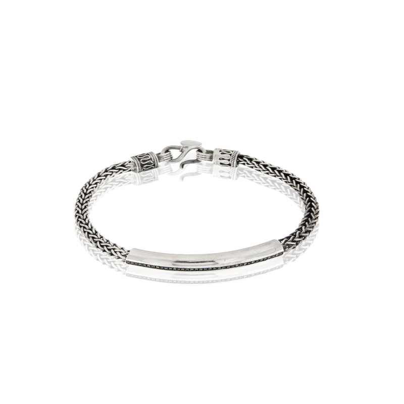Men's Diamond  Silver Bracelet