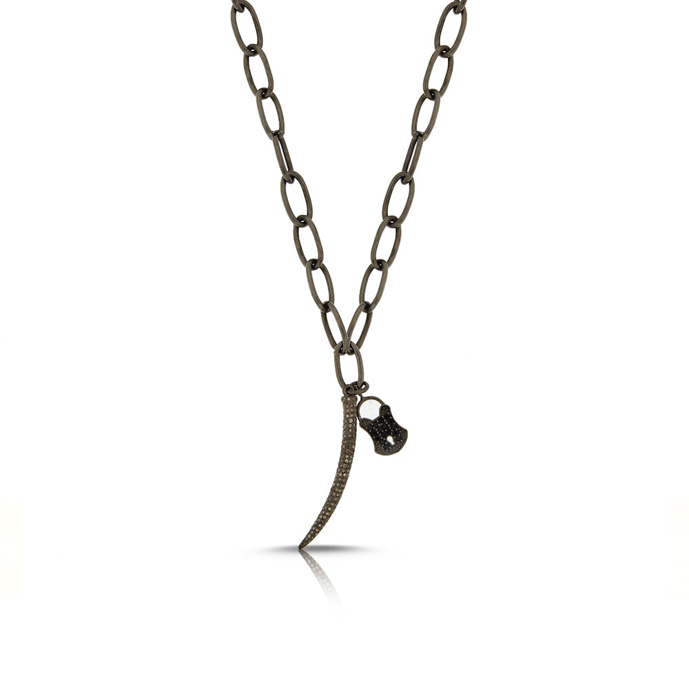 Mens Lock Necklace